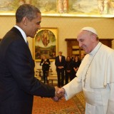 Il Presidente Usa Barack Obama e Papa Francesco