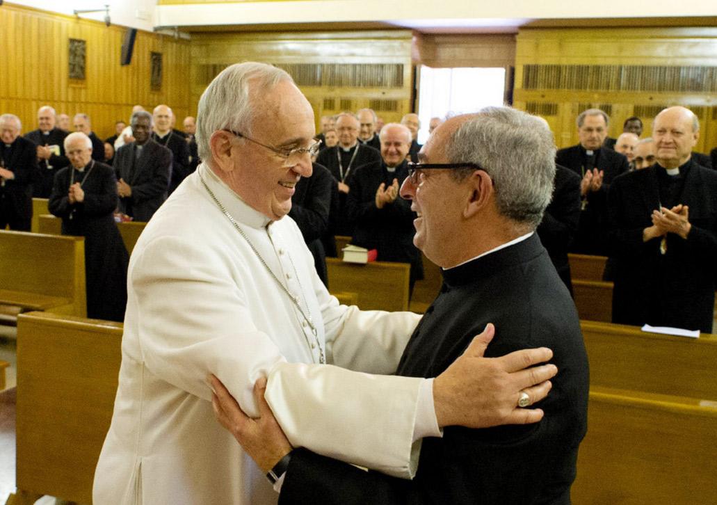 Papa Francesco con il suo Vicario Don Angelo De Donatis
