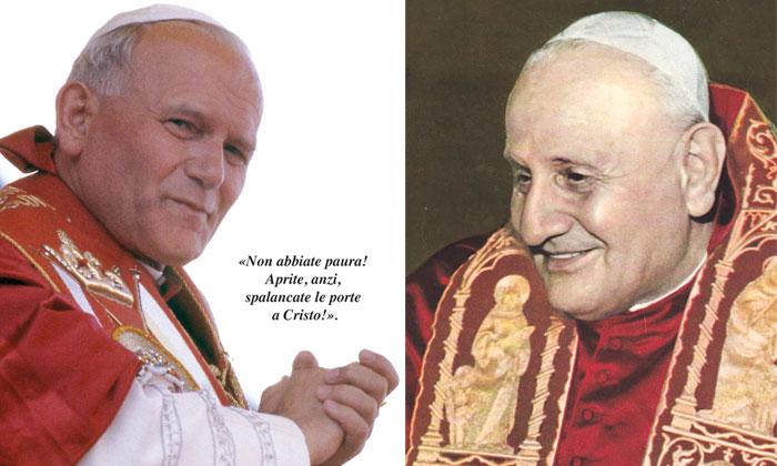 canonizzazione-giovannipaoloII-giovanniXXIII