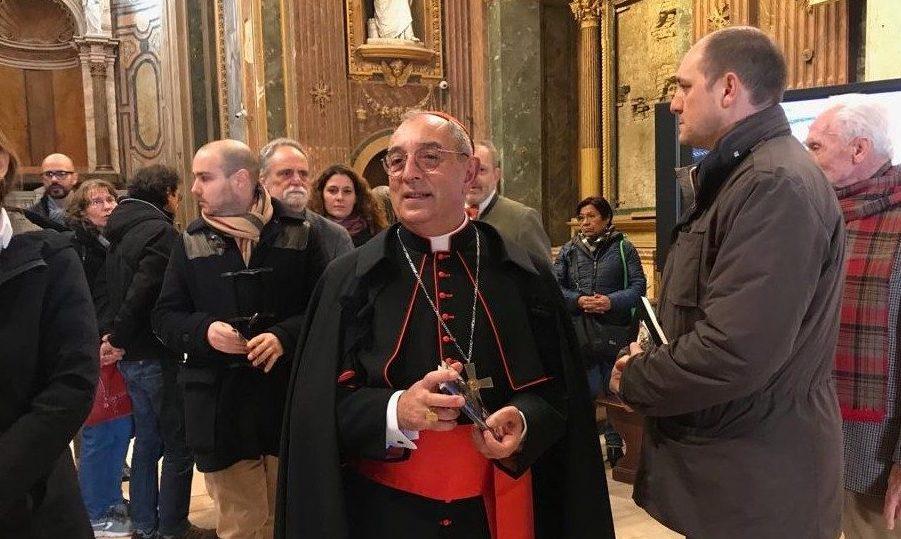 il cardinale vicario Angelo De Donatis
