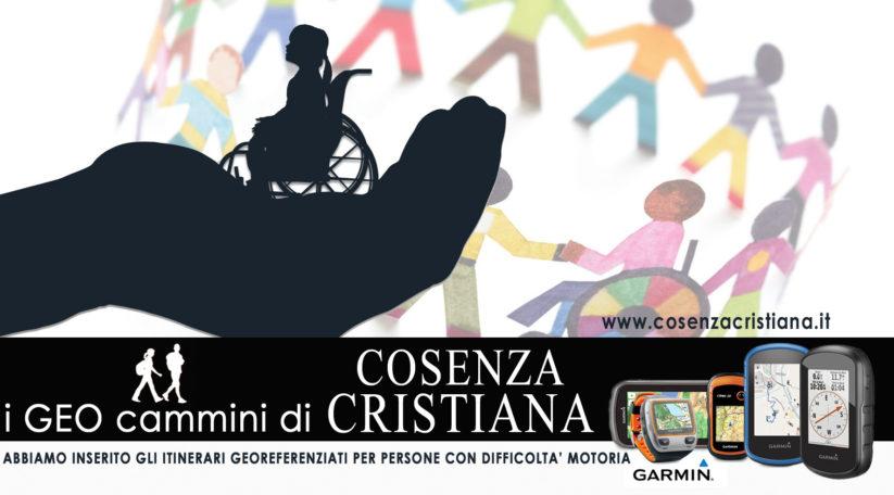 GEOcammini di Cosenza Cristiana per Persone con difficoltà motorie