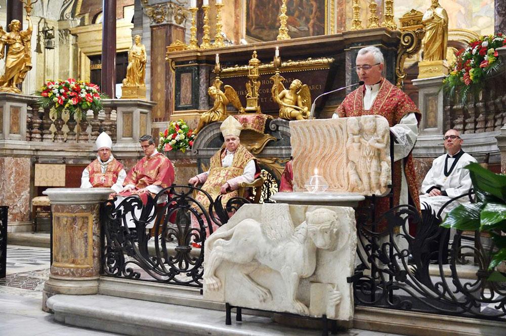 Basilica San Marco Evangelista - il Parroco Mons. Renzo Giuliano