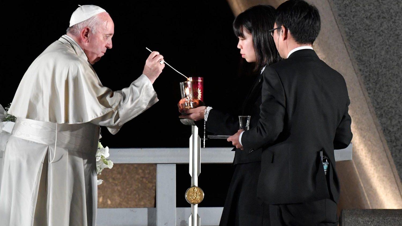 Papa Francesco al Memoriale di Hiroshima