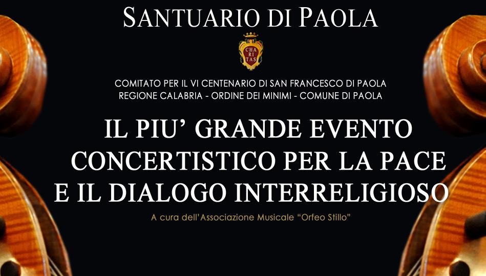 VI Centenraio San Francesco di Paola: Concerto per la Pace e il Dialogo Interreligioso